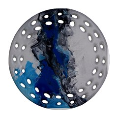 Blue Abstract No.3 Ornament (Round Filigree)