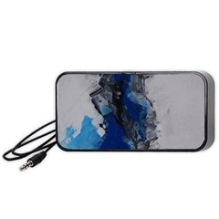 Blue Abstract No.3 Portable Speaker (Black)