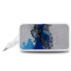 Blue Abstract No.3 Portable Speaker (White)