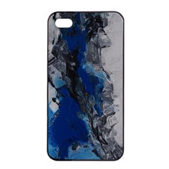 Blue Abstract No.3 Apple iPhone 4/4s Seamless Case (Black)