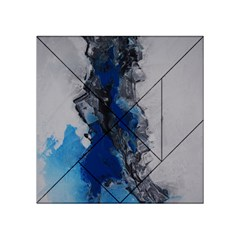Blue Abstract No 3 Acrylic Tangram Puzzle (4  X 4 )