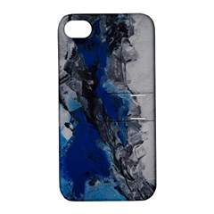 Blue Abstract No 3 Apple Iphone 4/4s Hardshell Case With Stand