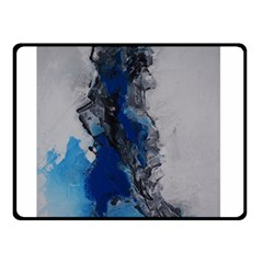 Blue Abstract No 3 Double Sided Fleece Blanket (small)