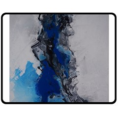 Blue Abstract No.3 Double Sided Fleece Blanket (Medium)