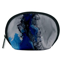 Blue Abstract No 3 Accessory Pouches (medium)