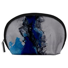 Blue Abstract No 3 Accessory Pouches (large)