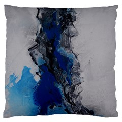 Blue Abstract No.3 Large Flano Cushion Cases (One Side)