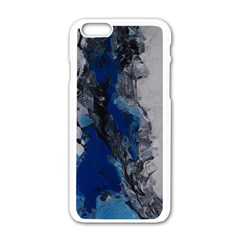 Blue Abstract No.3 Apple iPhone 6 White Enamel Case