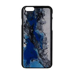 Blue Abstract No 3 Apple Iphone 6 Black Enamel Case