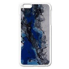 Blue Abstract No.3 Apple iPhone 6 Plus Enamel White Case