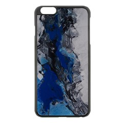 Blue Abstract No.3 Apple iPhone 6 Plus Black Enamel Case