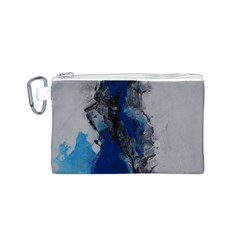 Blue Abstract No.3 Canvas Cosmetic Bag (S)