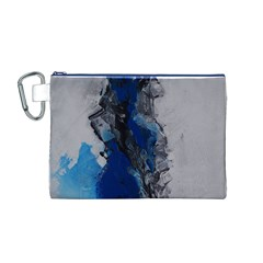 Blue Abstract No.3 Canvas Cosmetic Bag (M)