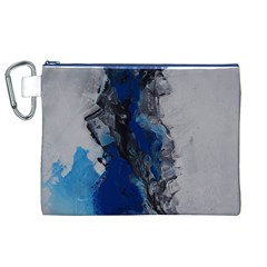 Blue Abstract No.3 Canvas Cosmetic Bag (XL)