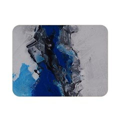 Blue Abstract No.3 Double Sided Flano Blanket (Mini)