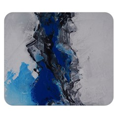 Blue Abstract No 3 Double Sided Flano Blanket (small)