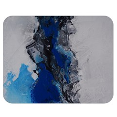 Blue Abstract No.3 Double Sided Flano Blanket (Medium)