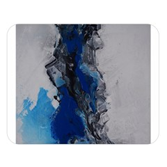 Blue Abstract No.3 Double Sided Flano Blanket (Large)