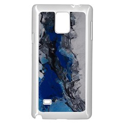 Blue Abstract No 3 Samsung Galaxy Note 4 Case (white)