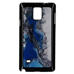 Blue Abstract No.3 Samsung Galaxy Note 4 Case (Black)