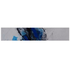 Blue Abstract No 3 Flano Scarf (large)