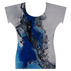 Blue Abstract No.3 Women s Cap Sleeve Top