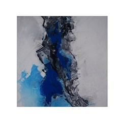 Blue Abstract No 3 Small Satin Scarf (square)