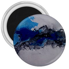 Blue Abstract No 4 3  Magnets