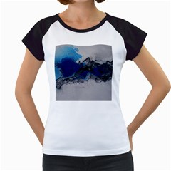 Blue Abstract No 4 Women s Cap Sleeve T