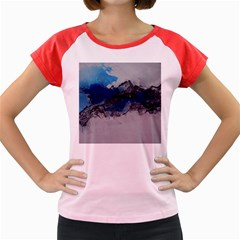 Blue Abstract No.4 Women s Cap Sleeve T-Shirt