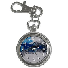 Blue Abstract No 4 Key Chain Watches