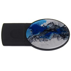 Blue Abstract No 4 Usb Flash Drive Oval (2 Gb)
