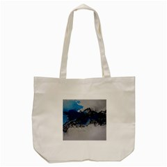 Blue Abstract No 4 Tote Bag (cream)