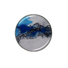 Blue Abstract No 4 Hat Clip Ball Marker