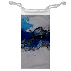 Blue Abstract No 4 Jewelry Bags
