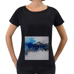 Blue Abstract No.4 Women s Loose-Fit T-Shirt (Black)
