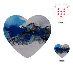 Blue Abstract No 4 Playing Cards (heart)