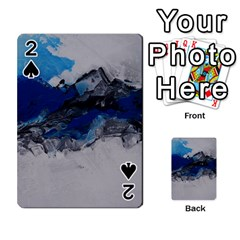 Blue Abstract No.4 Playing Cards 54 Designs