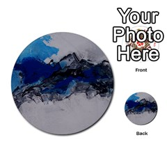 Blue Abstract No.4 Multi-purpose Cards (Round)