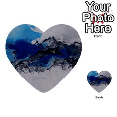 Blue Abstract No 4 Multi Purpose Cards (heart)