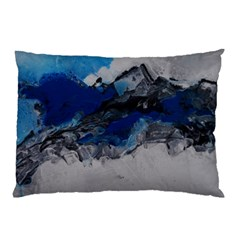 Blue Abstract No 4 Pillow Cases