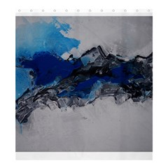 Blue Abstract No 4 Shower Curtain 66  X 72  (large)