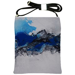 Blue Abstract No 4 Shoulder Sling Bags