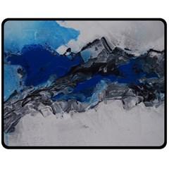 Blue Abstract No 4 Fleece Blanket (medium)