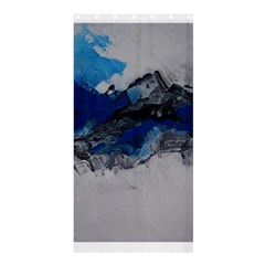 Blue Abstract No 4 Shower Curtain 36  X 72  (stall)