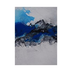 Blue Abstract No.4 Shower Curtain 48  x 72  (Small)