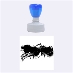Blue Abstract No.4 Rubber Round Stamps (Medium)