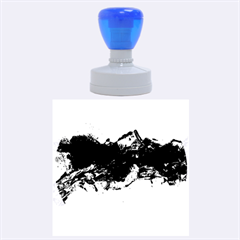 Blue Abstract No.4 Rubber Round Stamps (Large)