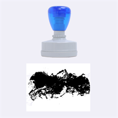 Blue Abstract No.4 Rubber Oval Stamps