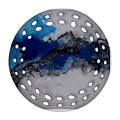 Blue Abstract No.4 Ornament (Round Filigree)